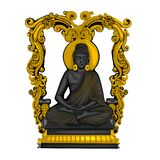 Vintage statue of Indian Lord Buddha sculpture one of avatar from the Dashavatara of Vishnu engraved on stone royalty free stock images