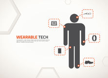 Vector design for wearable technology. Wearable technology cector concept design and icons
