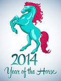 Vector design year of the horse 2014. Easy edit stock illustration