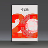 Vector design 20 years anniversary. Cover template Royalty Free Stock Image