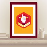 Vector designer poster in frame Royalty Free Stock Photography