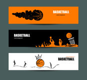 Vector designs for basketball. A collection of sports flyers for the game, a tournament. Sketches. Hand drawing. Ball with crown stock illustration