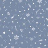 Vector Designschablone, nahtloses Muster für Weihnachtsfestival Lizenzfreies Stockfoto