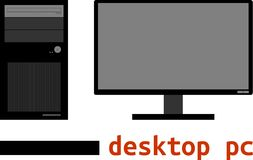 Vector - desktop computer Royalty Free Stock Photo