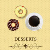 Vector dessert menu Royalty Free Stock Photos