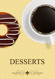 Vector dessert menu. Abstract background Stock Image
