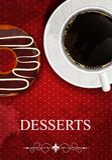 Vector dessertmenu Stock Foto