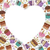 Vector desserts and sweets stock illustration