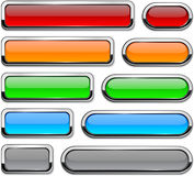 Vector detailed buttons on white. Royalty Free Stock Photo