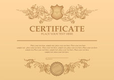 Vector  detailed certificate Stock Images