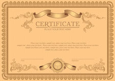 Vector  detailed certificate Stock Photography