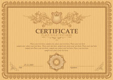 Vector  detailed certificate Royalty Free Stock Photos