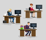 Vector detailed character corporate business team Royalty Free Stock Image