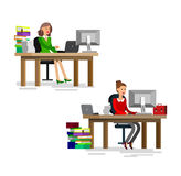 Vector detailed character corporate business team Royalty Free Stock Images