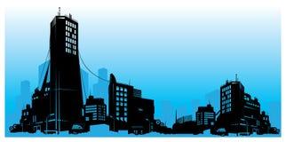 Vector detailed city skyline Stock Photography