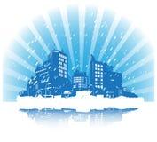 Vector detailed city skyline Stock Image