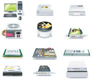 Vector detailed computer parts icon set. Part 1 royalty free illustration