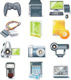 Vector Detailed Computer Parts Icon Set. Part 5 Royalty Free Stock Photo