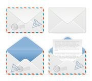 Vector detailed envelope icon set Royalty Free Stock Photos
