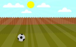 Local playground vector illustration with football royalty free illustration