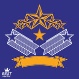 Vector detailed luxury 3d symbol. Monarch emblem, celebrative st Royalty Free Stock Photos