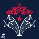 Vector detailed luxury 3d symbol. Monarch emblem, celebrative st Royalty Free Stock Photo