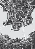 Vector detailed map Hong Kong Stock Images