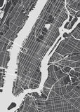 Vector detailed map New York Stock Images