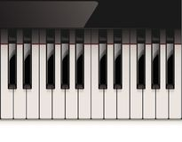 Vector detailed piano keyboard Royalty Free Stock Photos