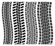 vector detailed tire prints Stock Photography
