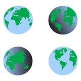 Vector determinado 3d de la tierra azul Foto de archivo