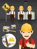 Vector determinado de Characters.worker Imágenes de archivo libres de regalías