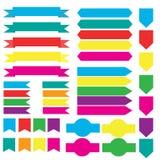 Vector determinado de la bandera de la cinta Fotografía de archivo libre de regalías
