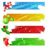 Vector determinado de la bandera de la Navidad