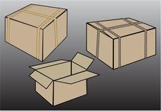 Vector determinado de la caja del cartón Fotografía de archivo