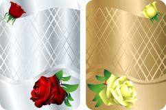Vector determinado de la invitación de Rose Imágenes de archivo libres de regalías