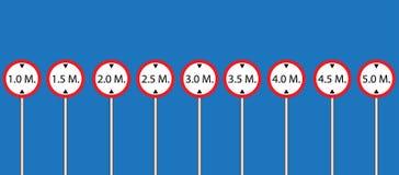 Vector determinado de la señal de tráfico Imagenes de archivo