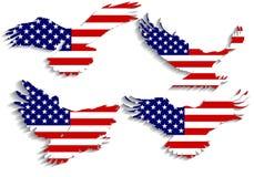 Vector determinado del águila de la bandera de América Imagen de archivo