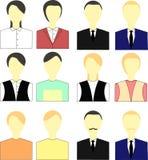 Vector determinado del avatar de la gente Foto de archivo libre de regalías
