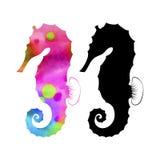 Vector determinado del caballo de mar Imagen de archivo libre de regalías