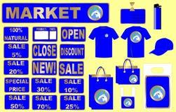 Vector determinado del diseño del mercado Fotografía de archivo libre de regalías