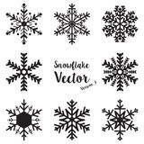 Vector determinado del invierno del copo de nieve Imágenes de archivo libres de regalías