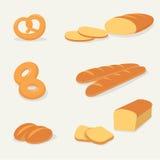 Vector determinado del pan plano con el fondo aislado Fotografía de archivo libre de regalías
