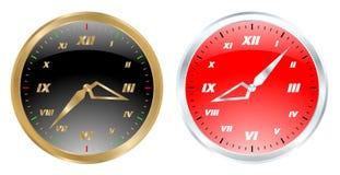 Vector determinado del reloj hermoso Imagen de archivo libre de regalías