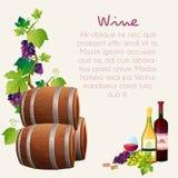 Vector determinado del vino Foto de archivo libre de regalías
