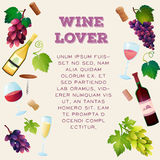 Vector determinado del vino Imagenes de archivo