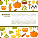 Vector detox smoothies cartoon ingredients Royalty Free Stock Photos