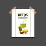 Vector detox smoothies cartoon ingredients Royalty Free Stock Photography