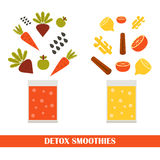 Vector detox smoothies consrtuctor Stock Photo