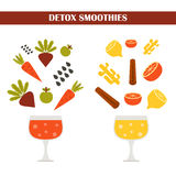 Vector detox smoothies constructor  Royalty Free Stock Image